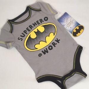 Batman Baby Onesie Newborn Gray